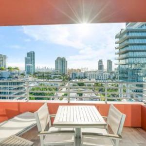 South Beach One Bedroom Corner Partial Ocean View w/Balcony in Miami Beach