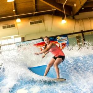Book Now Soaring Eagle Waterpark and Hotel (Mount Pleasant, United States). Rooms Available for all budgets. An  indoor waterpark with waterslides highlights this hotel in Mount Pleasant along with a total of 45000 square foot of fun including a waver rider one body slide one bowl